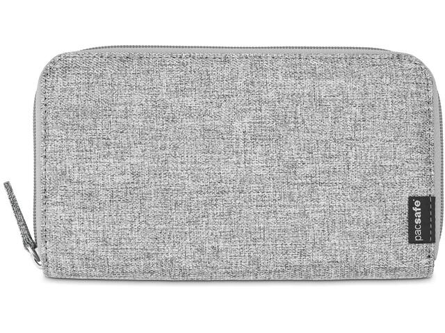 Pacsafe RFIDsafe LX250 Zippered Travel Wallet tweed grey